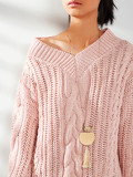 Tassel & Moon Sweater Chain Necklace