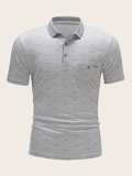 Men Marled Polo Shirt