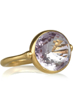 Swivel 22-karat gold amethyst ring
