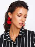 Asymmetrical Double Flake Drop Earrings