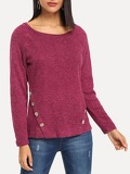 Button Front Raglan Sleeve Sweater