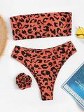 Random Leopard Bikini Set With Hair Tie