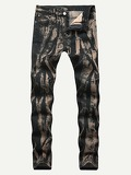 Men Tie Dye Wash Jeans
