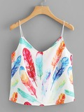 Feather Print Cami Top