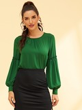 Frill Trim Semi Sheer Top