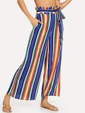 Vertical Stripe Straight Leg Pants