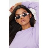 White Thin Retro Sunglasses
