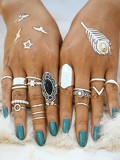 Mixed Shaped Ring Set 19pcs