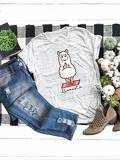 Letter And Cartoon Print Tee