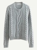 Twisted Knit Solid Jumper