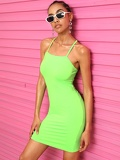 Neon-green Cami Dress
