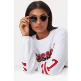 Black Cat Eye Lens Retro Sunglasses