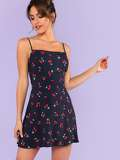 Cami Dress In Cherry Print