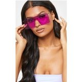 Purple Square Frameless Oversized Sunglasses