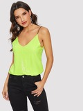 Neon Lime Sequin Cami Top