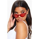 Red Transparent Frame Retro Cat Eye Sunglasses