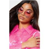 Pink To Green Gradient Aviator Sunglasses