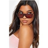 Burgundy Flat Top Retro Sunglasses