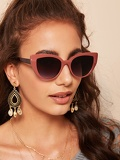 Tinted Lens Cat Eye Sunglasses