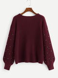 Beaded Bishop Sleeve Sweater