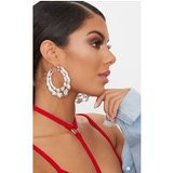 Silver Double Creole Hoop Earrings