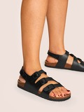 Buckle Strap Decor Slingback Sandals