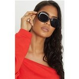 Black Oval Shape Retro Sunglasses
