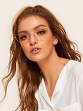 Metal Frame Cat Eye Glasses