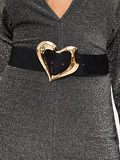 Metal Heart Shaped Buckle Belt