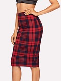 Form Fitting Tartan Skirt