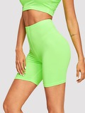 Neon Lime Solid Cycling Shorts