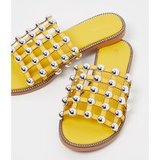 Yellow Alisa Large Studded Slides
