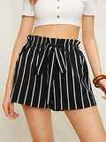Striped Drawstring Waist Short
