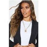 Gold Padlock Chunky Chain Necklace