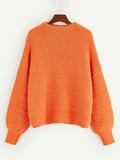Round Neck Drop Shoulder Sweater