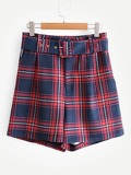 Self Tie Belted Shorts