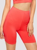 Neon Pink Solid Cycling Shorts