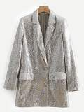 Dual Pocket Sequin Blazer