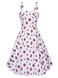 50s Cherry Print Cami Dress