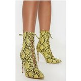 Lime Snake Lace Up High Point Ankle Boot