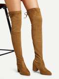 Over The Knee Self Tie Boots