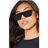 Black Smoke Flat Top Retro Sunglasses