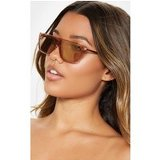 Nude Flat Top Retro Sunglasses