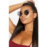 Gold Small Round Sunglasses