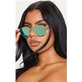 Green Revo Gold Metal Frame Aviator Sunglasses
