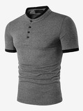 Men Ringer Polo Shirt