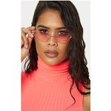 Pink Metal Almond Cat Eye Sunglasses