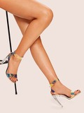 Metallic Two Part Stiletto Heels