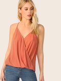 Wrap Draped Halter Top