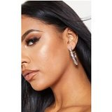 Clear Diamante Row Resin Hoop Earrings